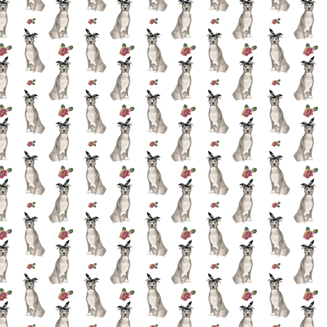 """1.5"""" Pit Life - Grey Floral fabric by rebelmod on Spoonflower - custom fabric"""