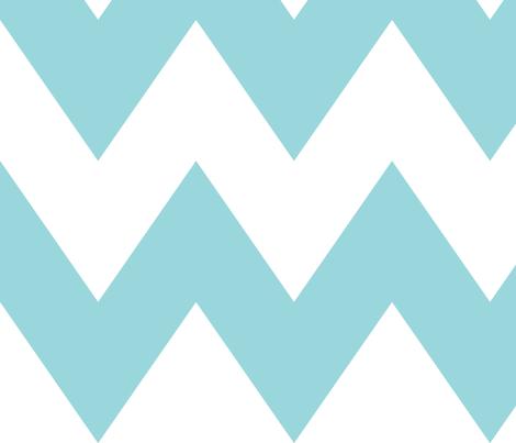 #9AD7DC chevron xl fabric by misstiina on Spoonflower - custom fabric