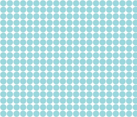 #9AD7DC dots fabric by misstiina on Spoonflower - custom fabric