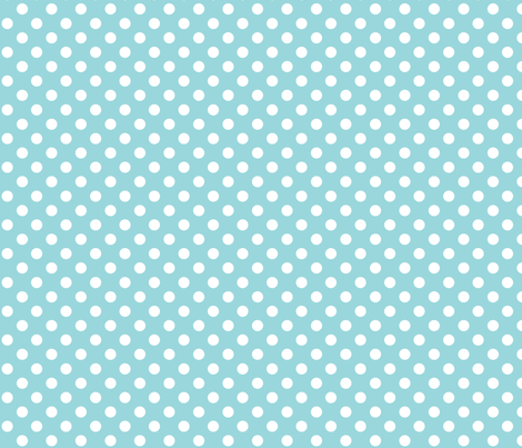 #9AD7DC polka dots 2 fabric by misstiina on Spoonflower - custom fabric