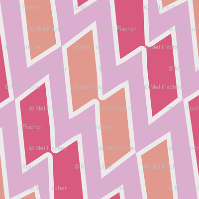 Tribal Diamond Pattern in Pinks and Peach