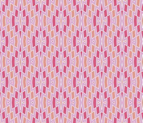 Tribal Diamond Pattern in Pinks and Peach fabric by mel_fischer on Spoonflower - custom fabric