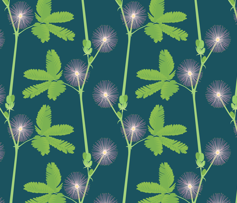 mimosa fabric by annaboo on Spoonflower - custom fabric