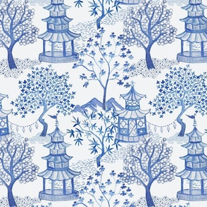 Pagoda Forest in Blues