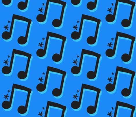Blue Note 3 fabric by la_panim on Spoonflower - custom fabric