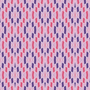 Tribal Diamond Pattern in Pinks and Violet
