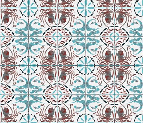 Meetings with Mermaids fabric by beckarahn on Spoonflower - custom fabric