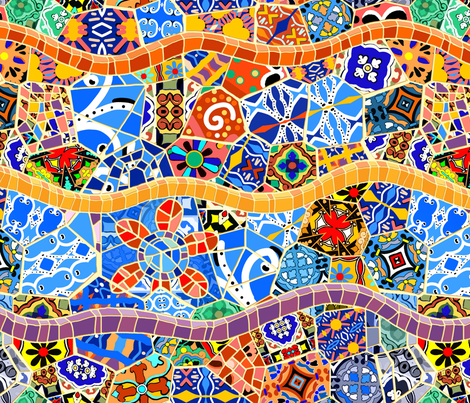 Spanish Tile Mosaics fabric by elramsay on Spoonflower - custom fabric