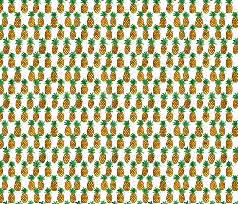 Pineapple Party! fabric by eileenmckenna on Spoonflower - custom fabric