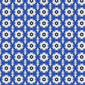 small Spanish blue tile