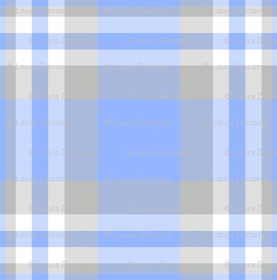 Blue Gray Grey Plaid Gingham Check