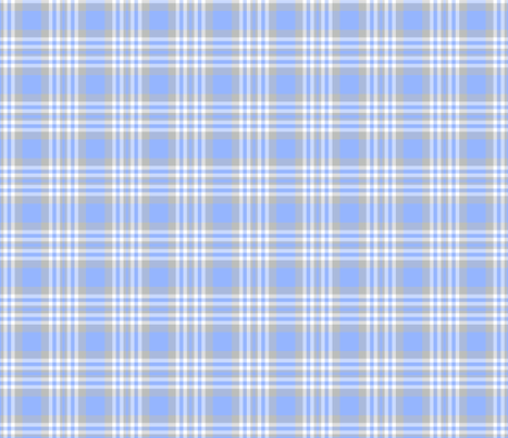 Blue Gray Grey Plaid Gingham Check fabric by decamp_studios on Spoonflower - custom fabric