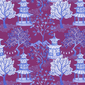 Pagoda Forest blues on plum