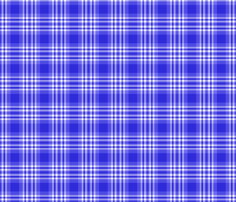 Blue Plaid Gingham Check fabric by decamp_studios on Spoonflower - custom fabric