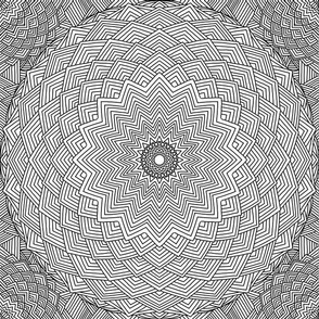 Mandala Project 558 | Black and White Starburst