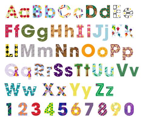 Alphabet Letters fabric by bluebirdworkshop on Spoonflower - custom fabric