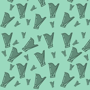 Harp Confetti Green