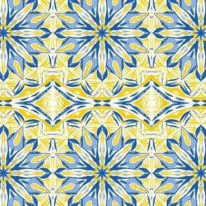Blue Lacy Daisy Border