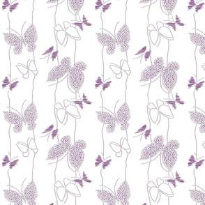 flutter by, purple