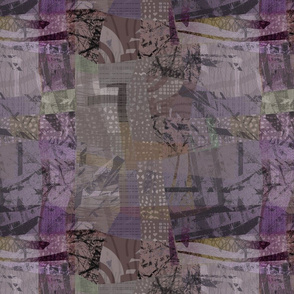Collage Abstract Purple Violet