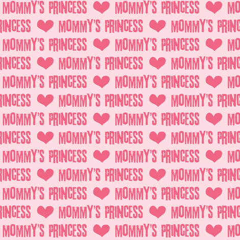 Mommy's Princess - pink on pink C18BS fabric by littlearrowdesign on Spoonflower - custom fabric