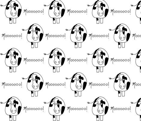 CDR Moo! fabric by cdrpaints on Spoonflower - custom fabric