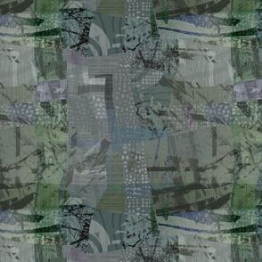 Collage Abstract Lichen