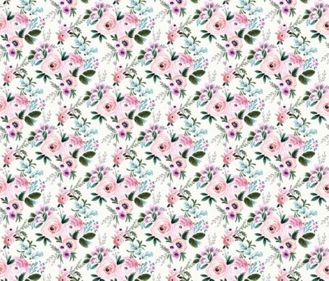 Victoria Floral Spring fabric by crystal_walen on Spoonflower - custom fabric