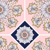 Pastel Tile Cheater Quilt