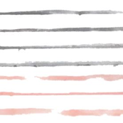 watercolor peach and gray stripes