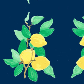 lemon bouquet navy