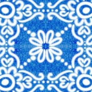 Spanish Tile N1 Cobalt reversed