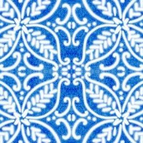 Spanish Tiles N2 Cobalt reversed