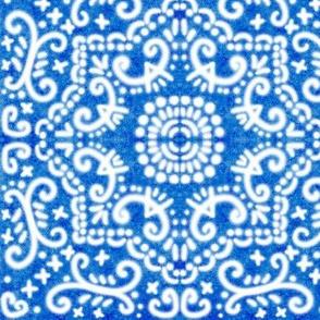 Spanish Tile N9 Cobalt reversed