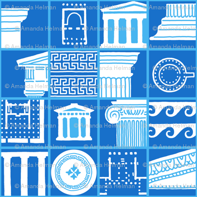 Collage of Ancient Greek Architectural Details
