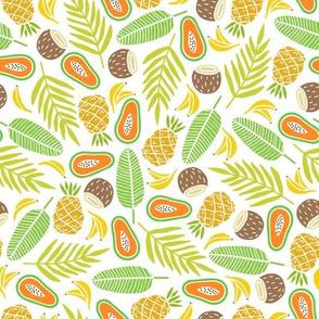 pineapple_papaya_banana_leaves_pattern