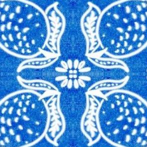 Spanish Tile N7 Lemon (Cobalt reversed)