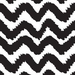 Black and white chevron