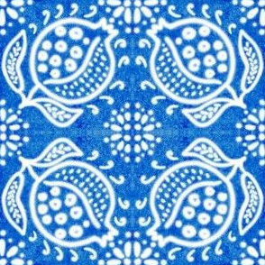 Spanish Tile N8 Pomegranate (Cobalt reversed)