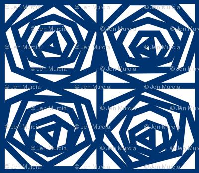 Origami Blue Roses