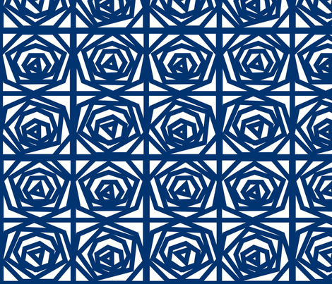 Origami Blue Roses fabric by lacasademurcia on Spoonflower - custom fabric