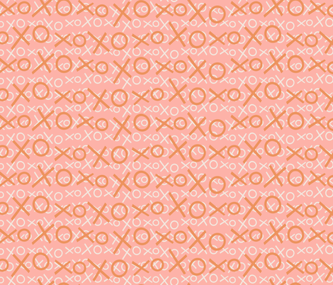 XOXO Rose Gold fabric by hollybender on Spoonflower - custom fabric