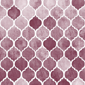 Textured Desaturated Burgundy Moroccan Tiles
