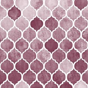 Textured Desaturated Burgundy Moroccan Tiles