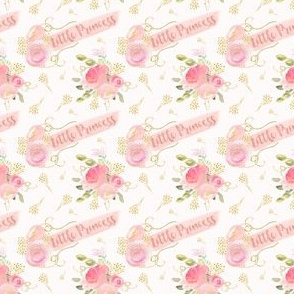 Little princess, Small scale, watercolor floral, bedroom decor, little baby girl