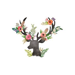 """10""""x10"""" Illustration inside a 14""""x18"""" Space / Deer"""