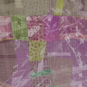 Collage Abstract lavender pastel