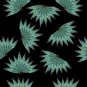dark green leaves