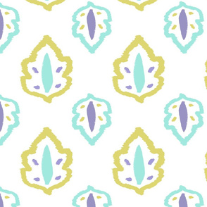 floral_element_yellow_blue_pattern