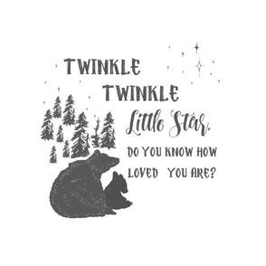 """14""""x18"""" / 10""""x10"""" Illustration / Twinkle Twinkle Bears"""